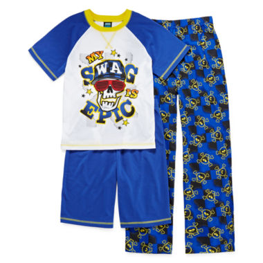 jcpenney.com | Jelli Fish Kids 3-pc. Swag Pajama Set - Boys 4-16