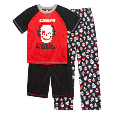 jcpenney.com | Jelli Fish Kids 3-pc. Crazy Cool Pajama Set - Boys 4-16