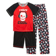 Jelli Fish Kids 3-pc. Crazy Cool Pajama Set - Boys 4-16