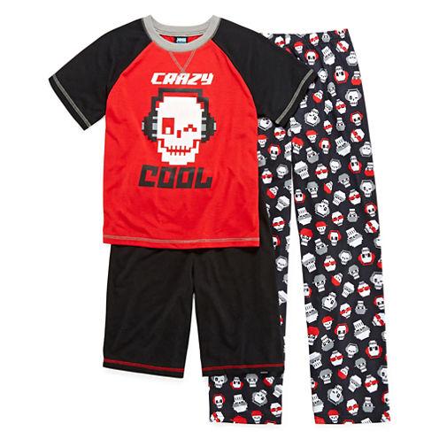 Jelli Fish Kids 3-pc. Crazy Cool Pajama Set - Boys 4-16