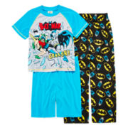 Batman 3-pc. Pajama Set - Boys 4-12