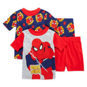 Spider-Man 4-pc. Pajama Set – Boys 2t-4t
