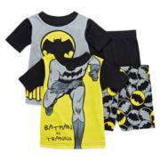 Batman 4-pc. Pajama Set - Boys 2t-4t