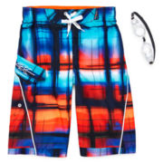 ZeroXposur® Spectrum Swim Trunks - Boys 4-7
