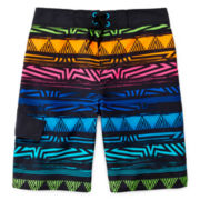 Arizona Tribal Multi-Stripe Swim Trunks - Boys 8-20