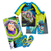 Disney Collection Toy Story Rash Guard, Swim Shorts, Flip Flops or Beach Towel
