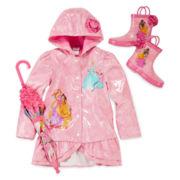 Disney Collection Princess Rain Jacket, Boots or Umbrella