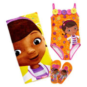 Disney Collection Doc McStuffins Swimsuit, Flip Flops or Beach Towel