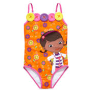 Disney Collection Doc McStuffins 1-pc. Swimsuit - Girls 2-10