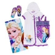 Disney Collection Frozen Cover Up, Swimsuit, Flip Flops or Beach Towel
