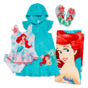 Disney Collection Ariel Cover Up, 2-pc. Swimsuit, Flip Flops or Beach Towel