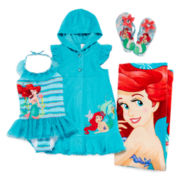 Disney Collection Ariel Cover Up, Swimsuit, Flip Flops or Beach Towel