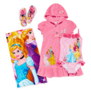 Disney Collection Princess Cover Up, Swimsuit, Flip Flops or Beach Towel