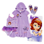 Disney Collection Princess Sofia Cover Up, 2-pc. Swimsuit, Flip Flops or Towel
