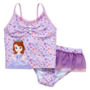 Disney Collection Princess Sofia 2-pc. Swimsuit – Girls 2-10