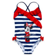 Disney Collection Minnie Mouse Swimsuit – Girls 2-10