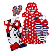 Disney Collection Minnie Mouse Cover Up, Swimsuit, Flip Flops or Beach Towel