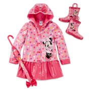 Disney Collection Minnie Mouse Rain Jacket, Boots or Umbrella