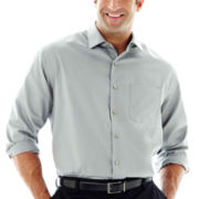 Van Heusen® Long-Sleeve No-Iron Solid Sateen Shirt–Big & Tall
