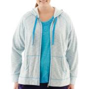 Made For Life™ Streaky Fleece Zip Jacket - Plus