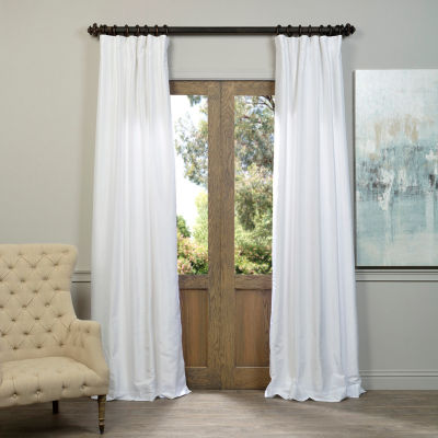 curtain faux pocket panel rod pdp panels jacquard window single curtains damask treatments silk astoria