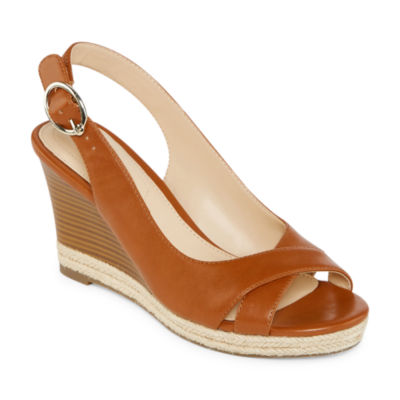 981887ccd23 Liz Claiborne Womens Pomona Wedge Sandals - JCPenney