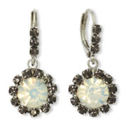 Vieste Silver-Tone Crystal and Rhinestone Drop Earrings
