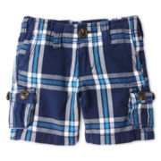 Arizona Plaid Cargo Shorts - Boys 12m-6y