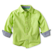 Arizona Solid Woven Shirt - Boys 12m-6y