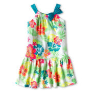 Okie Dokie® Neon Floral Sundress - Girls 12m-6y