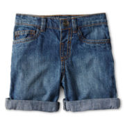 Okie Dokie® Roll-Cuff Denim Shorts - Boys 12m-6y