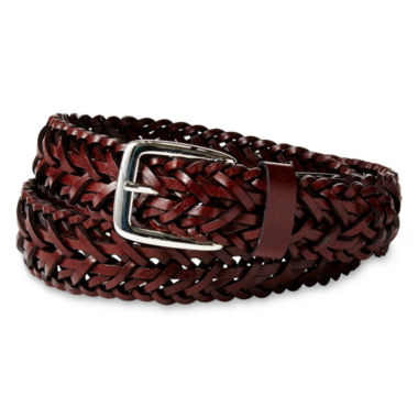 jcpenney.com | IZOD® Brown Braided Belt - Boys 8-20