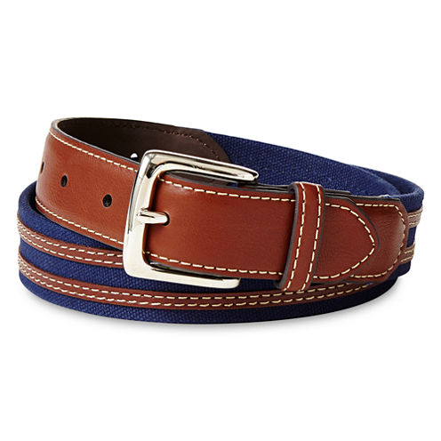 IZOD® Blue Canvas Belt - Boys 8-20