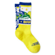 Overtime Brasil Yellow Crew Socks - Boys
