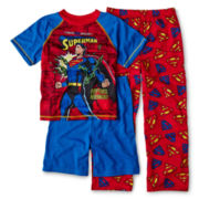 Superman Unchained 3-pc. Pajama Set - Boys 4-12