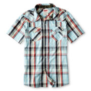 Levi's® Reseda Aquatic Blue Western Shirt - Boys 4-16