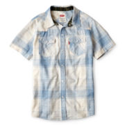 Levi's® Reseda Blue Shadow Western Shirt - Boys 4-16