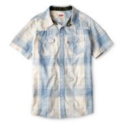 Levi's® Reseda Blue Shadow Western Shirt - Boys 4-16