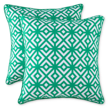 jcpenney.com | Line Diamond 2-Pack Decorative Pillows