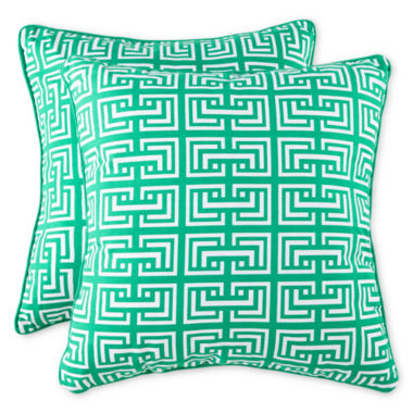 jcpenney.com | Square Interlock 2-Pack Decorative Pillows