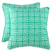 Square Interlock 2-Pack Decorative Pillows