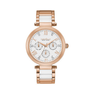 jcpenney.com | Caravelle New York Womens Two Tone Bracelet Watch-44n108