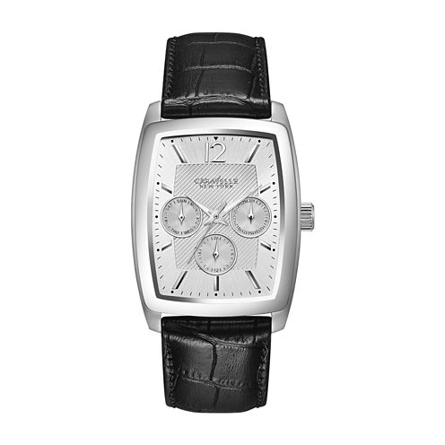Caravelle New York Mens Black Strap Watch-43c116