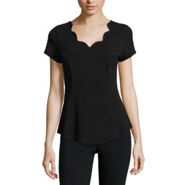 jcpenney.com | Alyx Short Sleeve Peplum Top