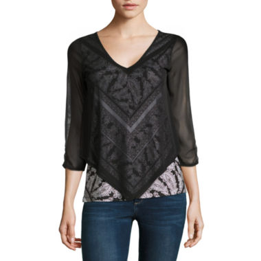 jcpenney.com | Alyx Mesh Overlay Top