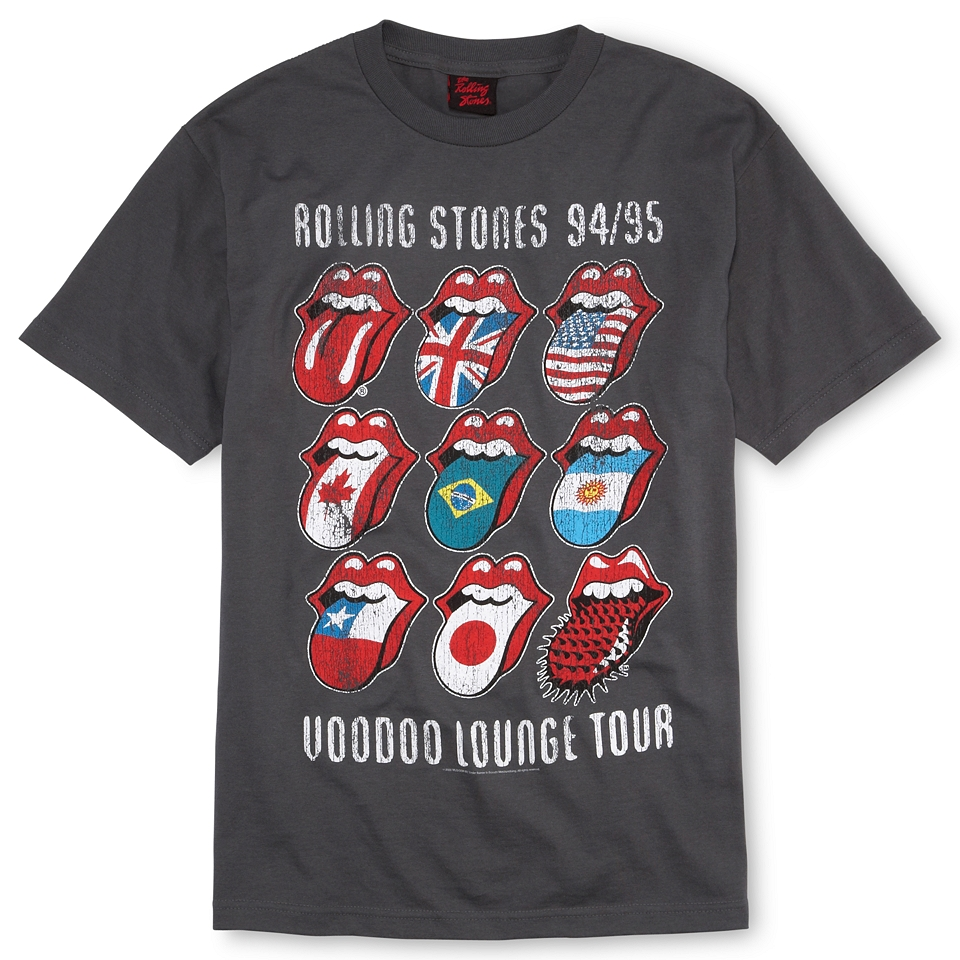 Rolling Stones Voodoo Lounge Graphic Tee, Charcoal, Mens