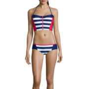 Arizona Field Day Americana Midkini Swim Top And Field Day American Wide Hipster Swim Bottom - Juniors