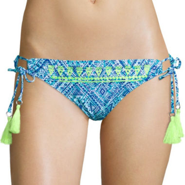 jcpenney.com | Arizona Do Or Diamond Embroidered Wide Hipster Swim Bottom - Juniors