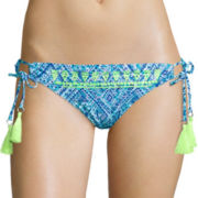 Arizona Do Or Diamond Embroidered Wide Hipster Swim Bottom - Juniors