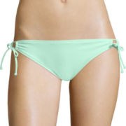 Arizona Solid Keyhole Hipster Swim Bottom - Juniors